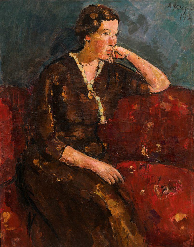 "Strong women: Anton Faistauer ""Young woman in red dress"""