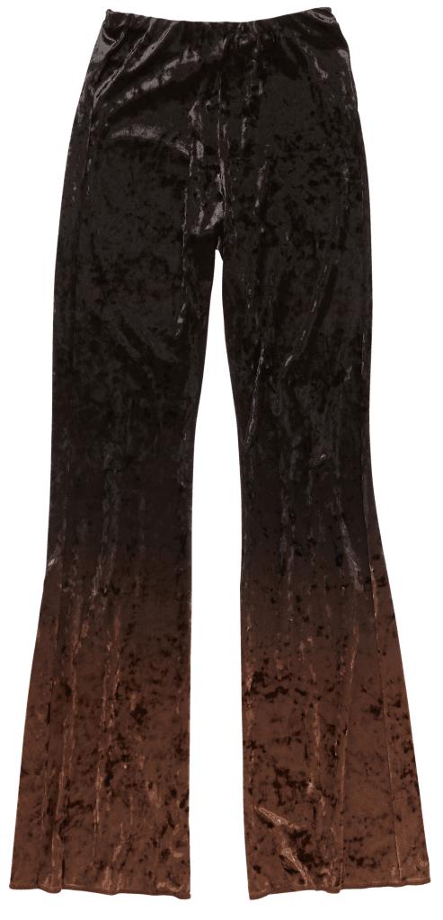 Outfit in Kitzbühel: ACNE Gradient Velvet Trousers