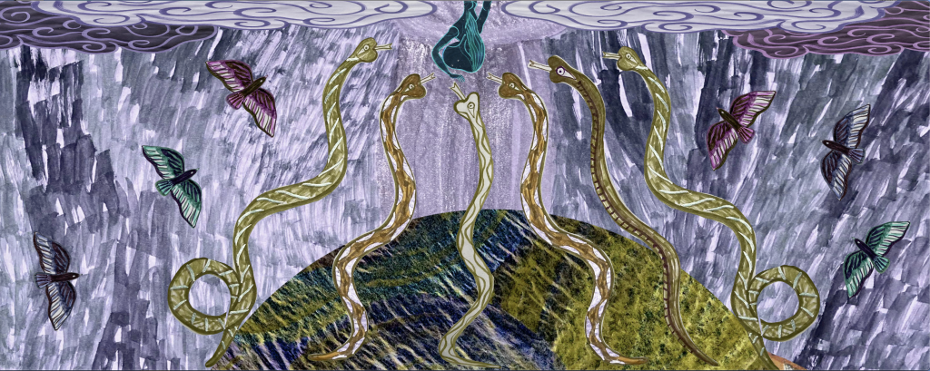 Emma Talbot Still from Our Own Creation 2021 Animation 02:30 mins Courtesy the artist and CIRCA