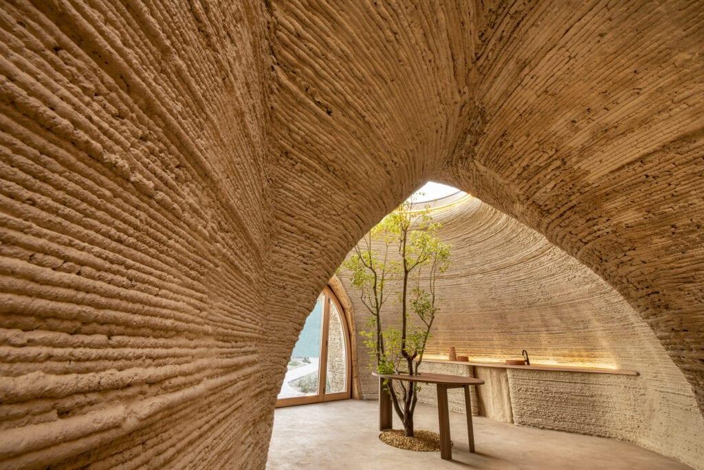 Tecla 3D printed house WASP + MCA interior