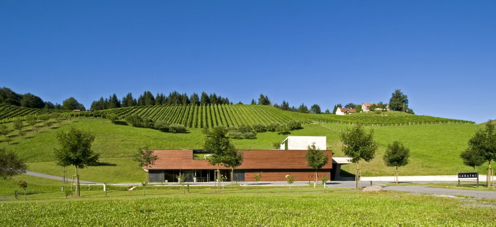 Wine cellar by Igor Skacel, Photo: Weingut Erwin Sabathi
