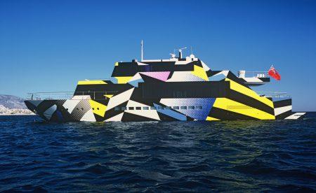 Yacht Design von Jeff Koons und der italienische Yacht-Designerin Ivana Porfiri, Foto: Dakis Yoannou