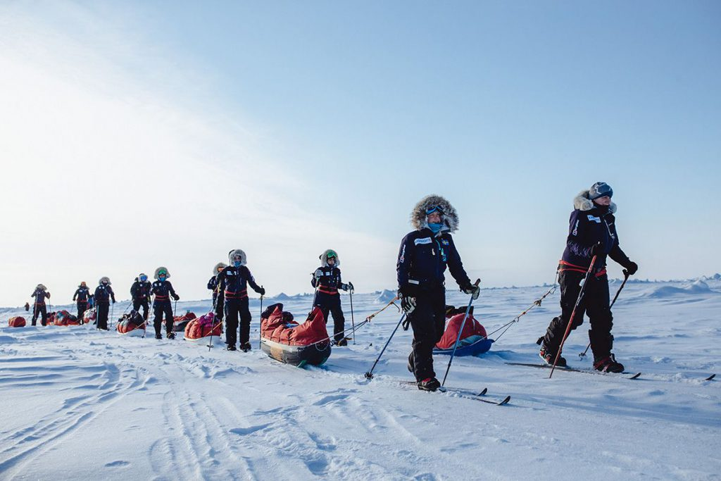 North pole expedition adventures